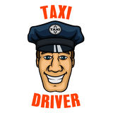 Taxi driver in uniform peaked cap Stock Photography