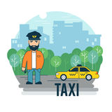 The taxi driver Royalty Free Stock Image