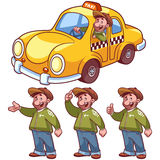 Taxi driver and yellow car Stock Photography