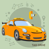 Taxi driver. yellow taxi Stock Photo