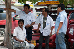 Taxi drivers in Koh Samui Royalty Free Stock Photos