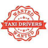 Taxi drivers wanted - printable stamp / label Stock Photo