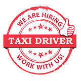 Taxi drivers wanted - printable stamp / label Stock Photos