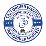 Taxi drivers wanted - printable stamp / label Royalty Free Stock Photo