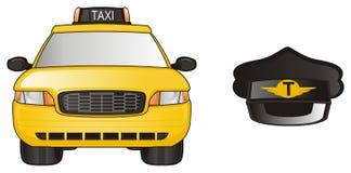 Taxi e black hat Immagini Stock Libere da Diritti