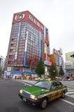Taxi en Akihabara, Tokio, Japón fotografía de archivo libre de regalías