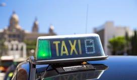 Taxi en Barcelona fotografía de archivo
