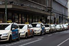 Taxi en Berlín imagenes de archivo