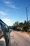 Taxi en el camino en África Foto de archivo libre de regalías
