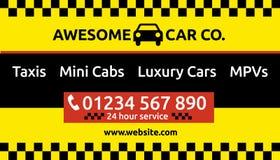 Taxi en het miniontwerp van het cabineadreskaartje Royalty-vrije Stock Afbeeldingen