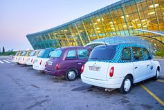 Taxi en Heydar Aliyev Airport à Bakou Photos stock