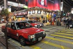 Taxi en Hong-Kong Fotografía de archivo libre de regalías