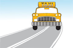 Taxi en la manera Foto de archivo