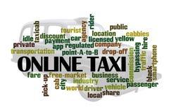 Taxi en ligne Photo stock