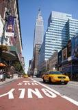 Taxi en Manhattan Fotos de archivo libres de regalías