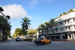 Taxi en Miami Imagen de archivo libre de regalías