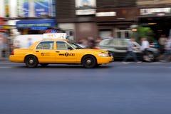 Taxi en New York City, los E.E.U.U. Imagen de archivo libre de regalías