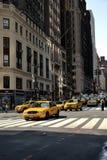 Taxi en Nueva York Foto de archivo libre de regalías