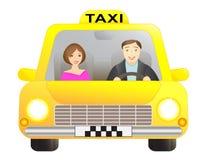 Taxi en passagier Royalty-vrije Stock Foto