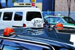 Taxi en Tokio Imagen de archivo libre de regalías