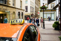 Taxi Europe Luxembourg Royalty Free Stock Photos