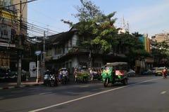 Taxi för Thailand Bangkok stadsgata Royaltyfri Bild