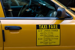 Taxi fare Stock Photo