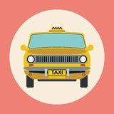 Taxi flat vector illustration Stock Photography