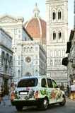 Taxi in Florence city, Italy royalty free stock image