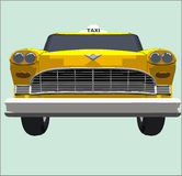 Taxi front. Yellow cab illustration (part of series royalty free illustration