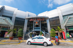 Taxi in front of Vungtau ferry terminal, Vietnam Stock Photography