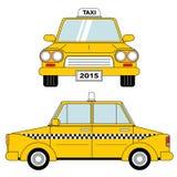 Taxi frontowa strona Zdjęcia Royalty Free