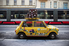 The Taxi. Funny fake taxi in Prague - Czech Republic Royalty Free Stock Image