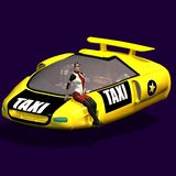 Taxi of the future. Futuristic taxi, as maybe it will exist in the future once. With chauffeuse Stock Photography