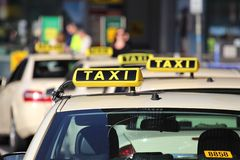Taxi. German taxi cabs waiting for passengers royalty free stock images