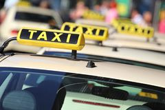 Taxi. German taxi cabs waiting for passengers Stock Images