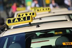 Taxi. German taxi cabs waiting for passengers Royalty Free Stock Image