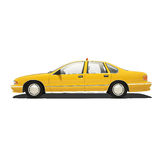 Taxi giallo Isoalted Fotografie Stock