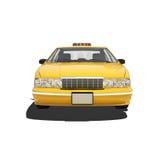 Taxi giallo Isoalted Immagini Stock