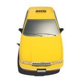 Taxi giallo Isoalted Fotografia Stock