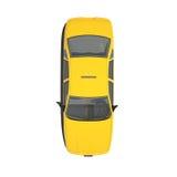 Taxi giallo Isoalted Immagine Stock