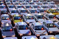 Taxi giapponesi Fotografie Stock Libere da Diritti