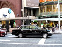 Taxi in Ginza area, Tokyo,Japan. Royalty Free Stock Photo
