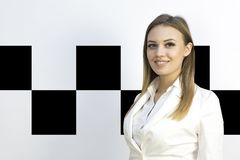 Taxi - girl dispatcher and other materials on the topic of taxi. stock image