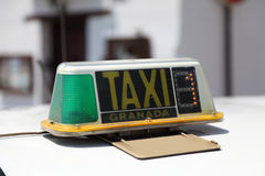 Taxi in Granada, Spain Royalty Free Stock Images