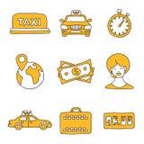 Taxi Graphismes de vecteur Photographie stock