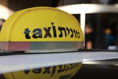 Taxi in Haifa israël Stock Foto