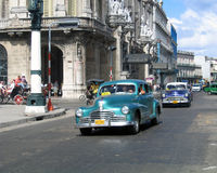 Taxi in Havanna Fotografia Stock