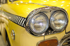 Taxi headlight. Headlight of the old taxis in New York City Royalty Free Stock Photography