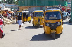 Taxi in Hell Ville, Nosy Be, Madagascar Royalty Free Stock Photos